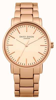 Daisy Dixon Womens kate mat spiegel wijzerplaat rose goud pvd DD004RGM