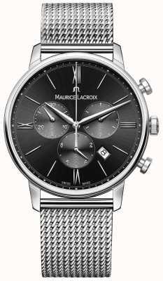 Maurice Lacroix Mens Milanais roestvrij staal zwarte wijzerplaat EL1098-SS002-310-1