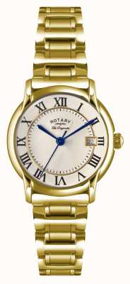 Rotary Womens les originales carviano goud pvd plaat LB90143/03
