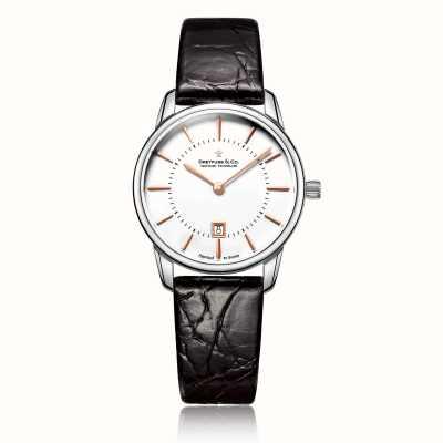 Dreyfuss Vrouwen 1980 lederen horloge DLS00135/01