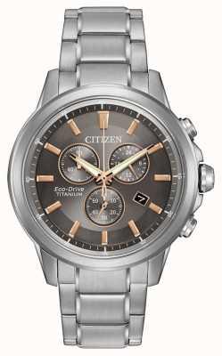 Citizen Eco-Drive titanium heren WR100 AT2340-56H