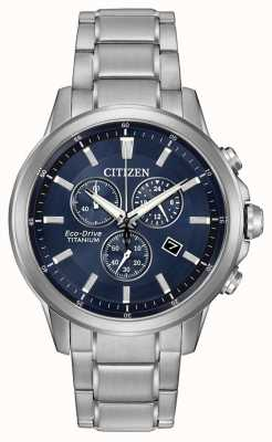 Citizen Eco-aandrijving titanium chronograaf AT2340-56L