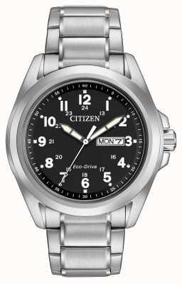 Citizen Eco-drive zwarte wijzerplaat sportarmband AW0050-82E