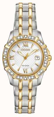 Citizen Eco-aandrijving 28 diamanten dames two tone EW2364-50A