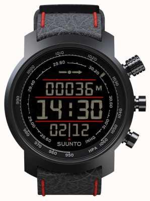 Suunto Elementum terra zwart / rood leder SS019171000