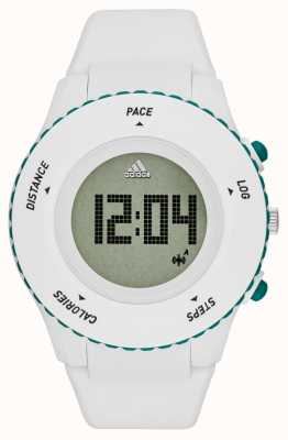 adidas Performance Mens opgesprongen witte siliconen band digitale ADP3221
