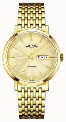 Rotary Mens vergulde goud wijzerplaat GB05303/03