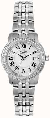 Rotary Womens les originales swiss made wit gezicht maaltijd strap LB90090/41