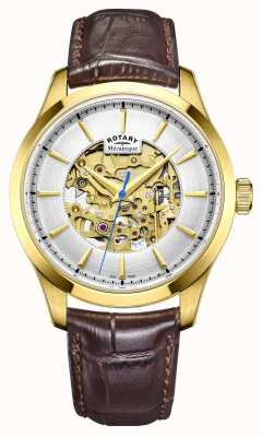 Rotary Mens bruin lederen band co GS05035/03