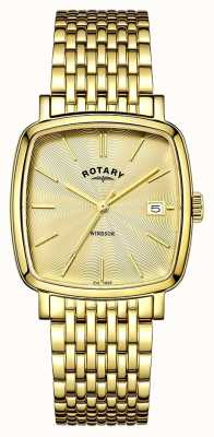 Rotary Mens Windsor goud pvd verguld GB05308/03