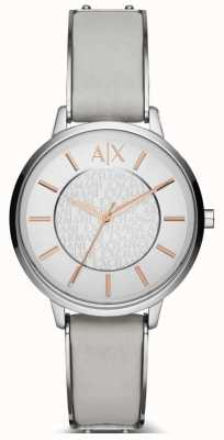 Armani Exchange Ladies olivia lederen band horloge AX5311