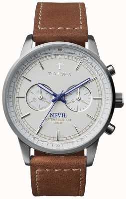 Triwa Unisex bruine lederen band ivoor Nevil NEST112-SC010215