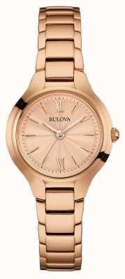 Bulova Womens rose gouden afwerking 97L151
