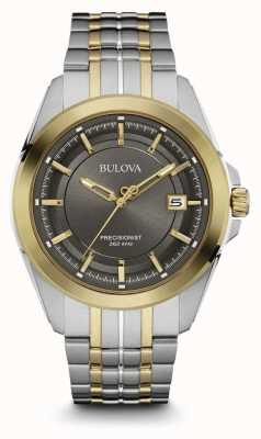 Bulova Heren two tone band grijze wijzerplaat 98B273