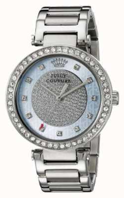 Juicy Couture Vrouwen zilveren riem ronde zilveren wijzerplaat 1901266