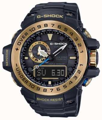 Casio Gulfmaster meester van g zwart en goud GWN-1000GB-1AER