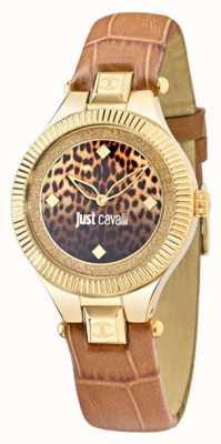 Just Cavalli Alleen indie beige zwarte wijzerplaat 36 mm R7251215502