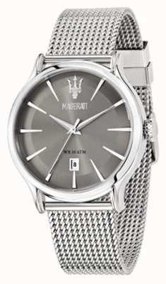 Maserati Epoca 42mm grijze wijzerplaat | stalen gaas armband | R8853118002
