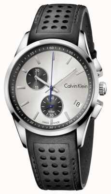 Calvin Klein Mens zwarte band witte wijzerplaat K5A371C6