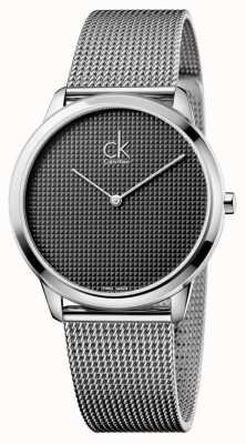 Calvin Klein Mens minimale zilver mesh horloge K3M2112X