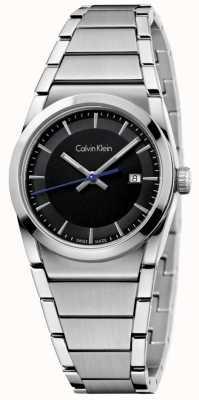 Calvin Klein Ladies stap kijken zwarte wijzerplaat K6K33143