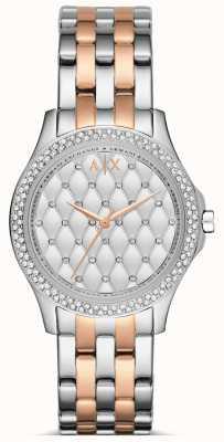 Armani Exchange Dames rose gouden en zilveren horloge AX5249