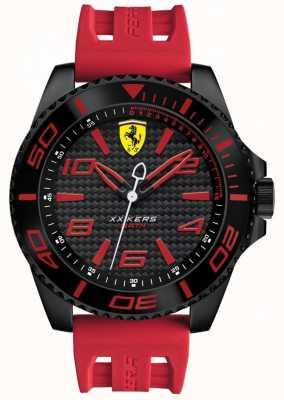 Scuderia Ferrari Mens rode rubberen band zwarte wijzerplaat 0830308