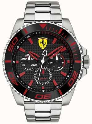 Scuderia Ferrari horloge carbon fiber wijzerplaat Heren staal multifunctionele 0830311