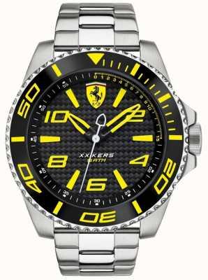Scuderia Ferrari Mens metal band zwarte wijzerplaat 0830330