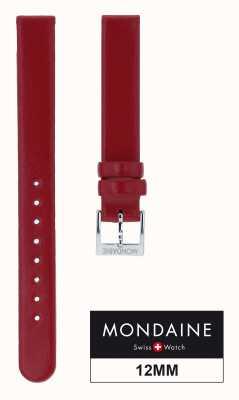 Mondaine Echte rode lederen band slechts 12mm FE311230Q