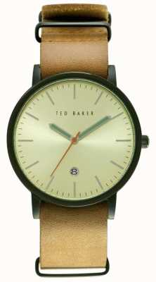 Ted Baker Mens 40mm zwart-ion-plated case TE10026443