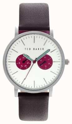Ted Baker Mens 40mm roestvrij staal zilveren wijzerplaat rode subdials TE10024788