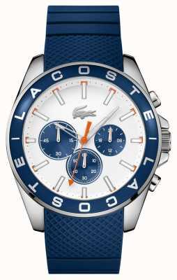 Lacoste Mannen westport blauwe riem chronograafhorloge 2010854