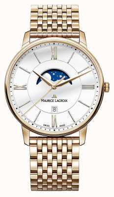 Maurice Lacroix Mens Eliros vergulde maanstand horloge EL1108-PVP06-112-1