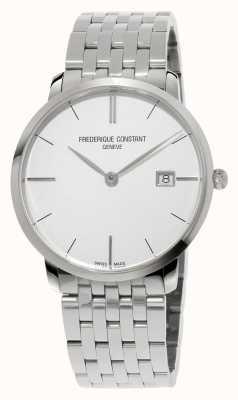 Frederique Constant Slimline herenhorloge 39mm saffierglas zilveren wijzerplaat FC-220S5S6B