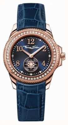 Thomas Sabo Womans blauwe lederen band blauwe wijzerplaat WA0216-270-209-33