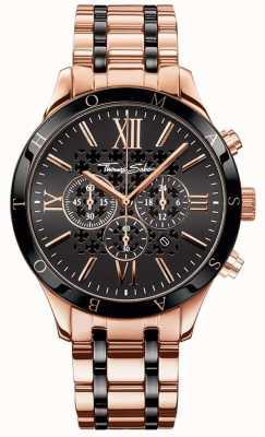 Thomas Sabo Heren rebellen urban roségouden chronograaf horloge WA0187-267-203-43