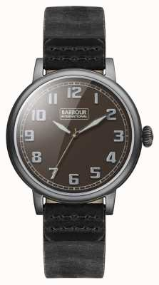 Barbour Hawkins herenhorloge zwart lederen band BB042BKBK