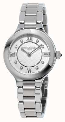 Frederique Constant Womens klassiekers bekoren diamanten reeks roestvrij staal FC-200WHD1ER36B