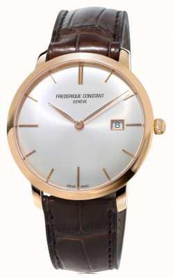Frederique Constant Mens slimline automatische bruine lederen band FC-306V4S4