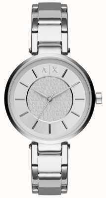 Armani Exchange Vrouwen roestvrij staal zilverkleurige wijzerplaat AX5315