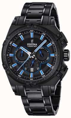 Festina 2016 chronobike heren chronograaf horloge blauw en zwart F16969/2