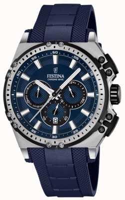 Festina 2016 chronobike heren chronograaf horloge blauw F16970/2