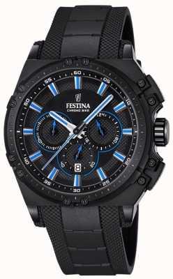 Festina Chronobike 2016 chronograaf horloge zwart rubber F16971/2