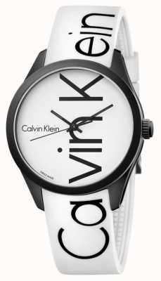 Calvin Klein Unisex kleur wit silicone zwart logo K5E51TK2