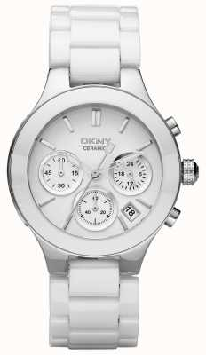 DKNY Womans witte chronograaf wijzerplaat witte band NY4912