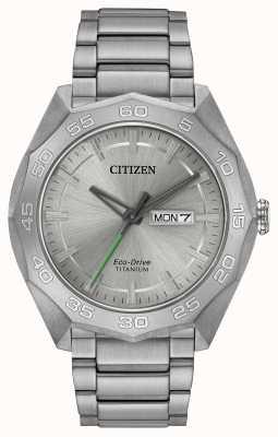 Citizen Heren titanium armband zilveren wijzerplaat AW0060-54A