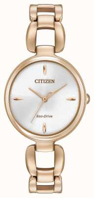 Citizen Womens rose goud pvd vergulde armband EM0423-56A