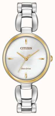 Citizen Vrouwen two tone roestvrij stalen armband EM0424-53A