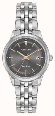 Citizen Dames roestvrij staal horloge ex-display EW2400-58H Ex-Display